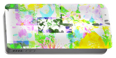 Wild About Flowers Portable Battery Charger by Barbara Moignard