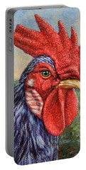 Wild Blue Rooster Portable Battery Charger