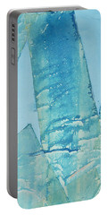 Wild Blue Waves Portable Battery Charger by Asha Carolyn Young