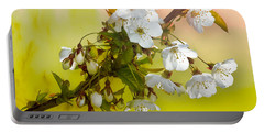 Wild Cherry Blossom Cluster Portable Battery Charger