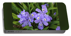 Wild Iris  Portable Battery Charger by William Tanneberger