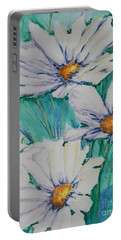 Wild Daisys Two Portable Battery Charger by Chrisann Ellis