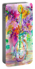 Wild Flowers Portable Battery Charger by Anna Ruzsan
