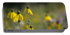 Wild Flowers Portable Battery Charger by Daniel Sheldon