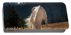 Wild Horse Cloud Portable Battery Charger by Leland D Howard