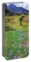 Wild Irises Portable Battery Charger