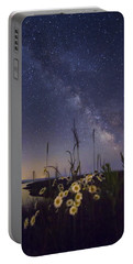 Wild Marguerites Under The Milky Way Portable Battery Charger