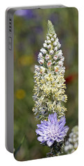 Wild Mignonette Flower Portable Battery Charger by George Atsametakis
