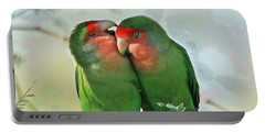 Wild Peach Face Love Bird Whispers Portable Battery Charger