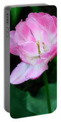 Wild Pink Rose Portable Battery Charger
