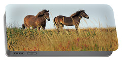 Wild Ponies On Exmoor Portable Battery Charger