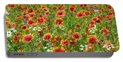 Portable Battery Charger featuring the photograph Wild Red Daisies #3 by Robert ONeil