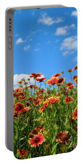 Portable Battery Charger featuring the photograph Wild Red Daisies #5 by Robert ONeil