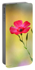 Wild Red Flower Portable Battery Charger