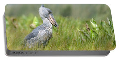 Portable Battery Charger featuring the photograph Wild Shoebill Balaeniceps Rex  by Liz Leyden