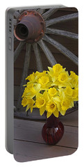 Wild West Daffodils Portable Battery Charger by Diane Alexander