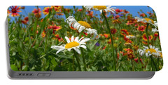 Portable Battery Charger featuring the photograph Wild White Daisies #1 by Robert ONeil
