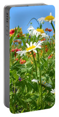 Portable Battery Charger featuring the photograph Wild White Daisies #2 by Robert ONeil