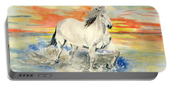 Wild White Horse Portable Battery Charger