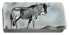 Wildebeest Portable Battery Charger by Anthony Mwangi