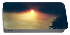Portable Battery Charger featuring the photograph Wildfire Smoky Sky by Kerri Mortenson