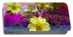 Wildflower Abstract Portable Battery Charger by Mike Breau