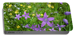 Wildflower Garden Portable Battery Charger by Martin Howard