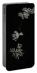 Wildflower In Black Portable Battery Charger