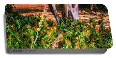 Wildflower Path Through The Woods Portable Battery Charger