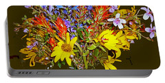 Wildflower Reminiscences Portable Battery Charger