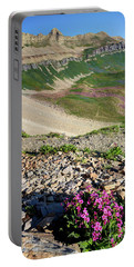 Wildflowers Above Timpanogos Basin At Sunrise Portable Battery Charger