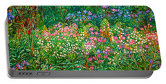 Portable Battery Charger featuring the painting Wildflowers Near Fancy Gap by Kendall Kessler