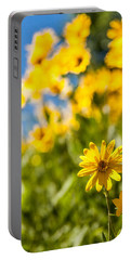Wildflowers Standing Out Abstract Portable Battery Charger by Chad Dutson