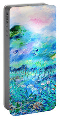 Wildlife Clouds And Shadows On Eagle Hill Portable Battery Charger by Trudi Doyle