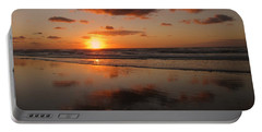 Wildwood Beach Sunrise Portable Battery Charger by David Dehner