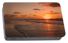 Wildwood Beach Sunrise II Portable Battery Charger by David Dehner