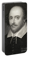 William Shakespeare Portable Battery Charger