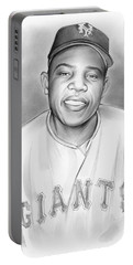 Willie Mays Portable Battery Charger by Greg Joens