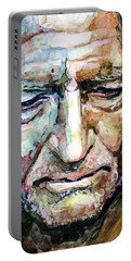 Willie Nelson  Portrait Portable Battery Charger by Laur Iduc