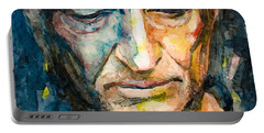 Willie Nelson  Portable Battery Charger by Laur Iduc