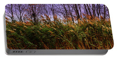 Portable Battery Charger featuring the photograph Willows In The Wind Bristol Rhode Island by Tom Prendergast