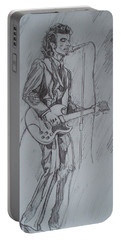 Mink Deville - Steady Drivin' Man Portable Battery Charger by Sean Connolly