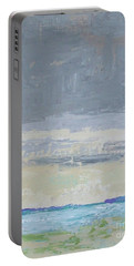 Wind And Rain On The Bay Portable Battery Charger