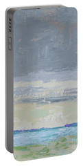 Wind And Rain On The Bay Portable Battery Charger by Gail Kent