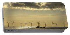 Wind Farm At Sunset Portable Battery Charger