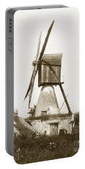 Portable Battery Charger featuring the photograph Wind Mill In France 1900 Historical Photo by California Views Mr Pat Hathaway Archives