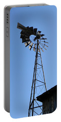 Wind On The Farm Portable Battery Charger by Jean Goodwin Brooks