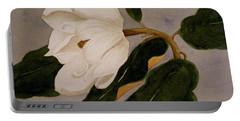 Windblown Magnolia Portable Battery Charger by Nancy Kane Chapman