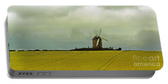 Windmill And Rapeseed And Storm Portable Battery Charger