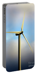 Windmill Dark Blue Sky Portable Battery Charger